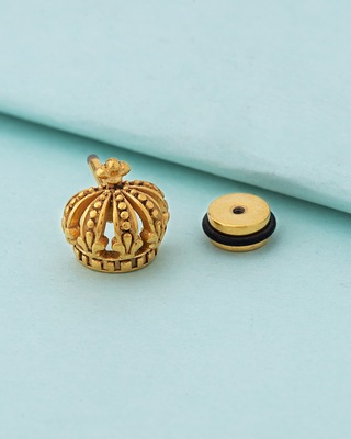 Royal Stud Crown Earring