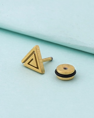Royal Stud Triangle Earring