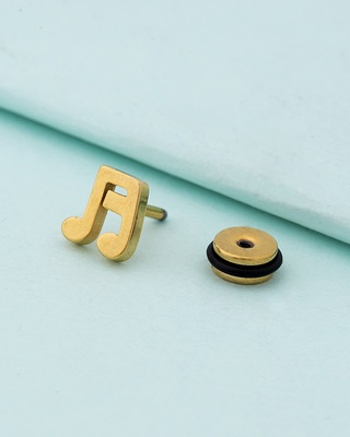 Royal Stud Musical Note Earring