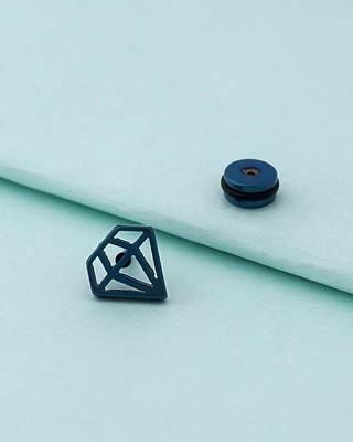 Royal Stud Diamond Motif Earring