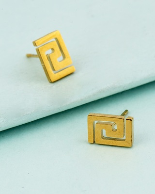 Royal Geometrical Men's Earrings