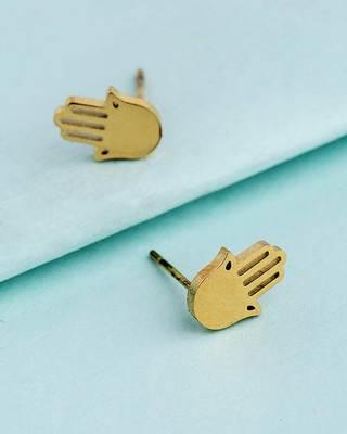 Royal Men's Hamsa Earrings