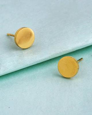 Royal Men's Round Stud Earrings