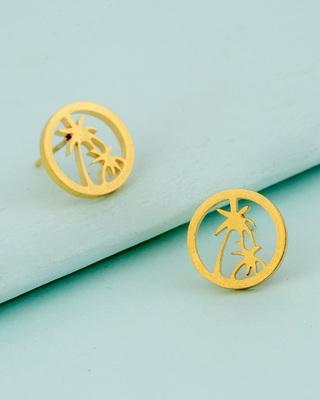 Royal Men's Palm Tree Earrings