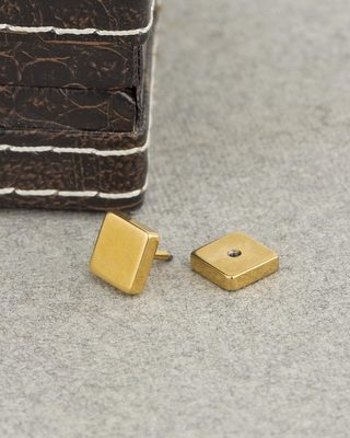 Smart Gold Square Stud Out Earring