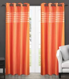Dhrohar Cotton Eyelet Curtain - Orange