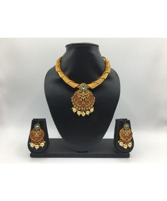 Designer Gold Plated necklace sets for women