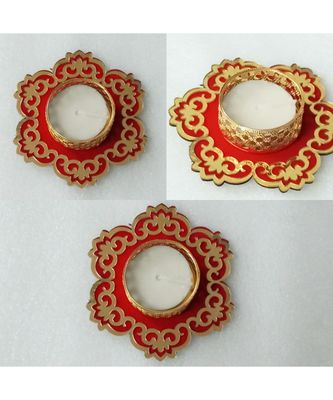 red  Beautiful Candle holder