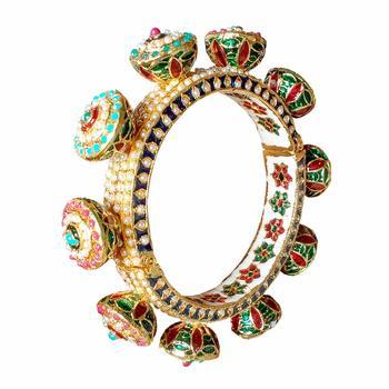 Multicolor meenakari bangles
