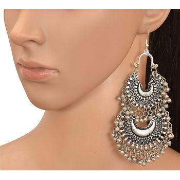 Oxidised Afghani Tribal Fancy Party Wear Earrings for Girls and Women