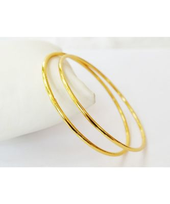 Plain Gold Plated Bangles Set Of 2