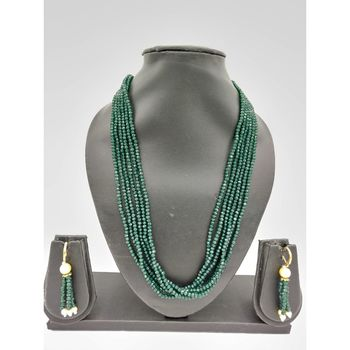 GREEN SWAROVSKI CRYSTAL NECKLACE  with earrings