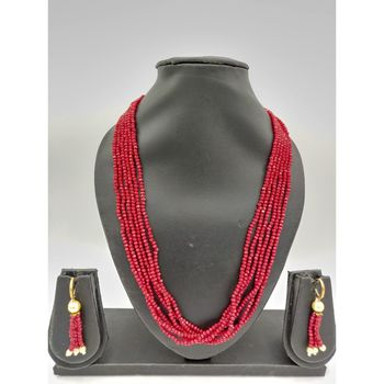 RED SWAROVSKI CRYSTAL NECKLACES with earrings