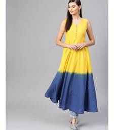 Yellow & blue Ombre Flared Maxi