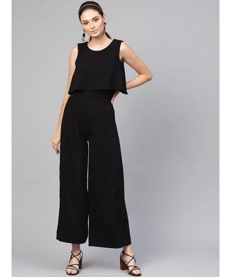 Black Layered Jumpsuit