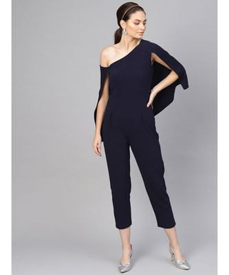Navy Cape Jumpsuit