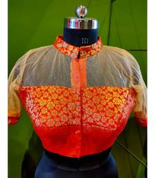 RED AND GOLDEN BLOUSE