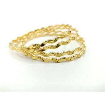 Designer Gold Plated Bangles Set Of 4