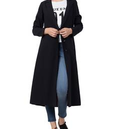 Black Knee Length Coat For Any Abaya