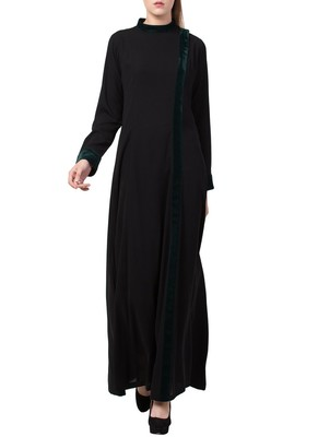 Black Very Elegant Abaya Like Dress For  Special Occasions