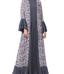 Multicolor  Abaya And Stylish Cardigan Combo.