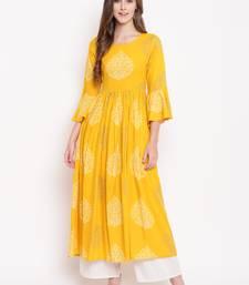 MustardForest rayon printed kurti