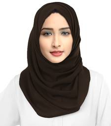 Casual Wear Brown Color Georgette Scarf Hijab Dupatta