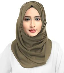 Occasion Wear Dust Color Georgette Dupatta Hijab Scarf