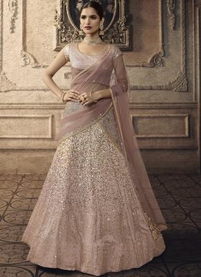 Pink Bridal Net Lehenga Choli