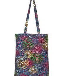 Eco-Friendly Multicolour Floral Print Canvas Shoulder Bag