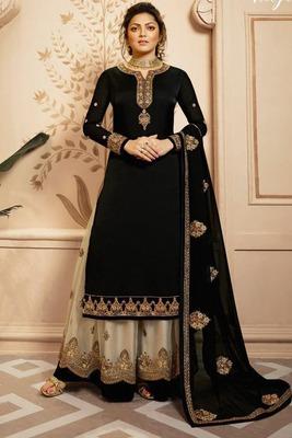 Black Fancy Faux Georgette Salwar
