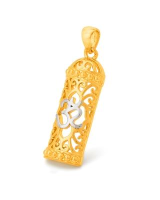 Spiritual Saga Filigree OM Shivling Pendant