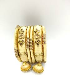 gold SILK THREAD BANGLES