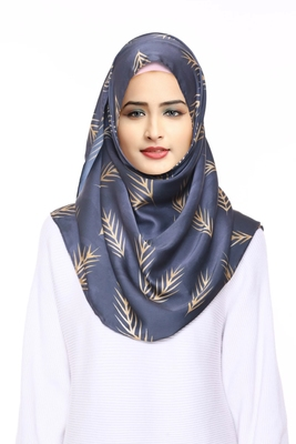 Justkartit 2 Loop Ready To Wear Chiffon Lycra Instant Hijab Stoles For Women