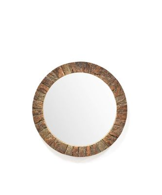 Fairy Tale Mirror Wall Hanging Wooden Wall Decor Round Shape for Living Room, Bedroom, Kids Room