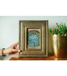 Fretwork Brass and MDF Cladding Antique Photo Frame Handmade Handicraft Decorations