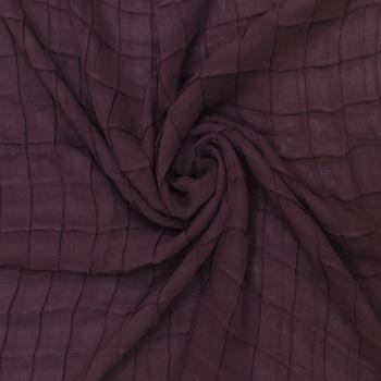 Purple Chiffon Checkered Hijab Stole For Women