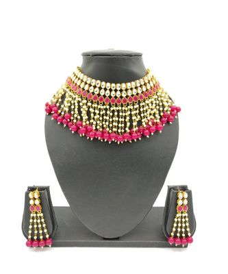 red kundan necklace sets