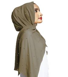 Justkartit Pearl Work Premium Georgette Scarves Dupatta Hijab For Women