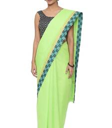 CLASSICATE from the house of The Chennai Silks Women's  green Chettinad Cotton Saree