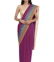 CLASSICATE from the house of The Chennai Silks Women's  purple Chettinad Cotton Saree
