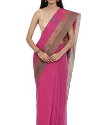 CLASSICATE from the house of The Chennai Silks Women's  magenta Coimbatore Cotton Saree