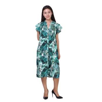 Women Viscose Printed A Line Dress