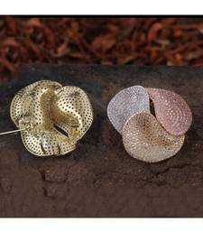Silver Golden Rose Gold Three In One  High Quality Cubic Zirconia Brooch Cum Pendant