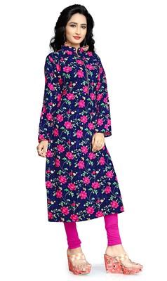 Justkartit Women'S Rayon Soft Cotton Printed Kurtis Kurta