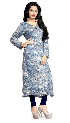 Justkartit Women'S Multi Color Printed Rayon Soft Cotton Kurtis
