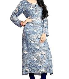 Justkartit Women's Multi Color Printed Rayon Soft Cotton Kurtis