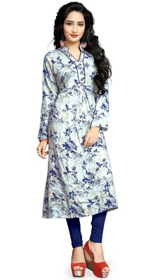 Justkartit Rayon Soft Cotton Casual Wear Printed Kurti For Women
