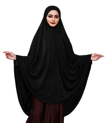 Justkartit Stitched Ready To Wear Long Plain Chaderi Hijab For Women