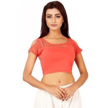 Peach Colour Cotton Spandex Free Size Blouse for Women.